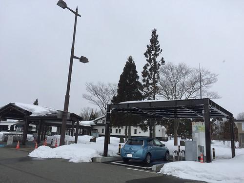 秋田自動車道 西仙北SA(下り) EV用急速充電器