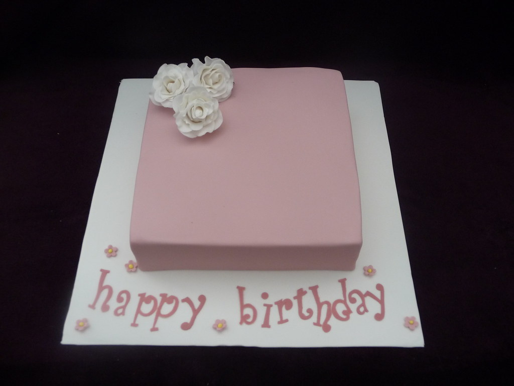 Pink Square Birthday Cake Jess Roberts Flickr
