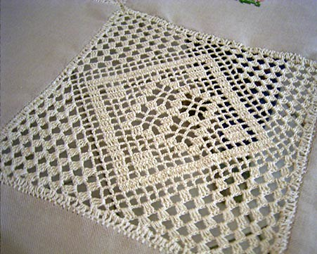 Crochet Square Linen Tablecloth My Design Linen Squares W Flickr
