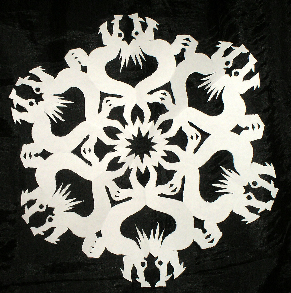 Chinese Dragon Snowflake | Vicious Bits | Flickr