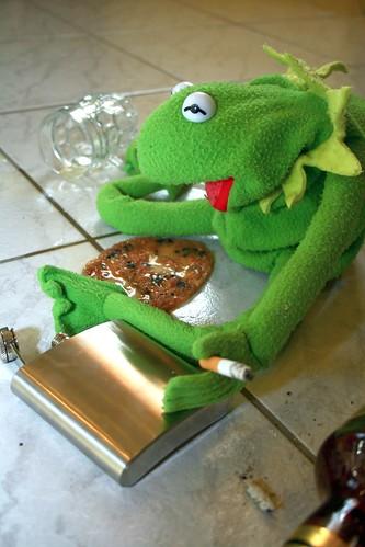 Resultado de imagen para kermit drunk