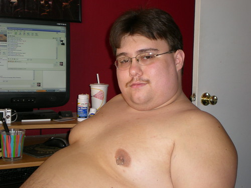 nipples pierced men Fat with