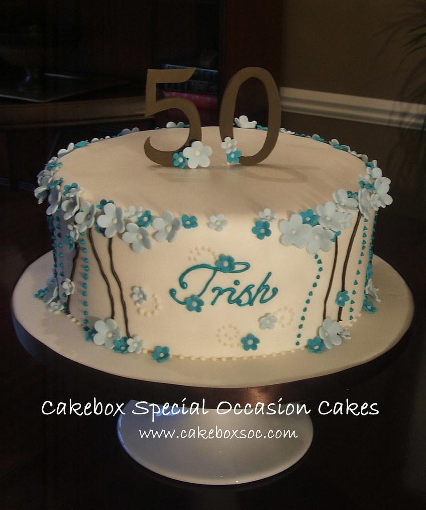 Trish s 50th Birthday Cake Melanie Robertson Flickr