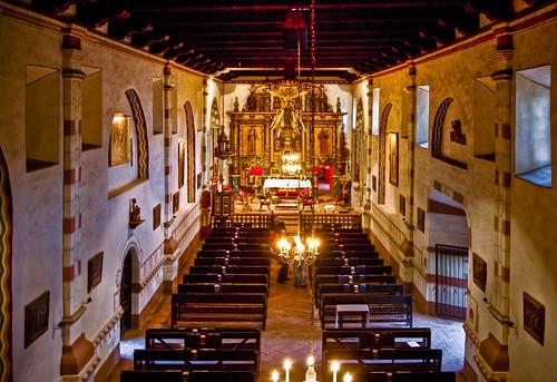 Inside Of The San Fernando Mission Chapel Taken From