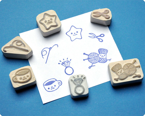 Hand carved rubber stamps for charlotte customized