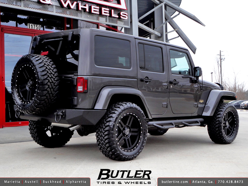 ... Jeep Wrangler Unlimited With 20in Black Rhino Mojave Wheels | By Butler  Tires And Wheels