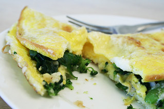 Broccoli & Spinach Omelet | by ccharmon