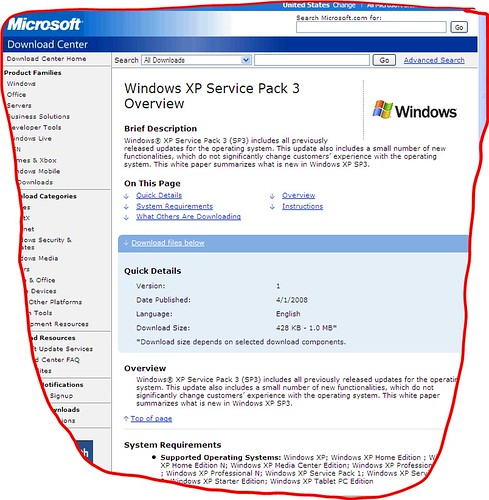 Windows xp service pack 3 available xp service pack 3 for Window xp service pack 3