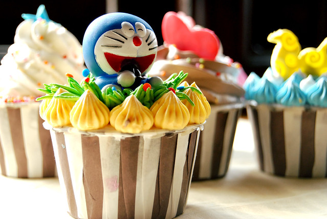 Doraemon cupcake