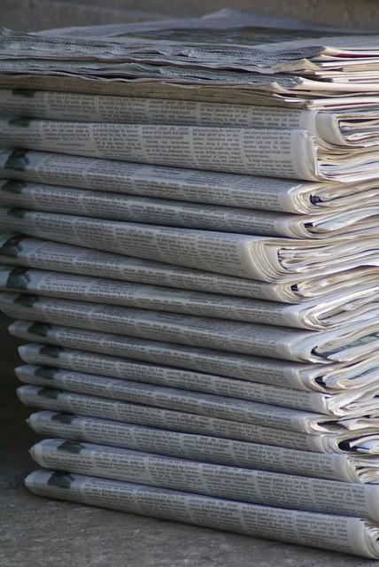 04 >> Newspaper pile | jurylaw.typepad.com/deliberations/2008/01/c… | Flickr
