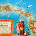 The Islands of Hawaii map postcard