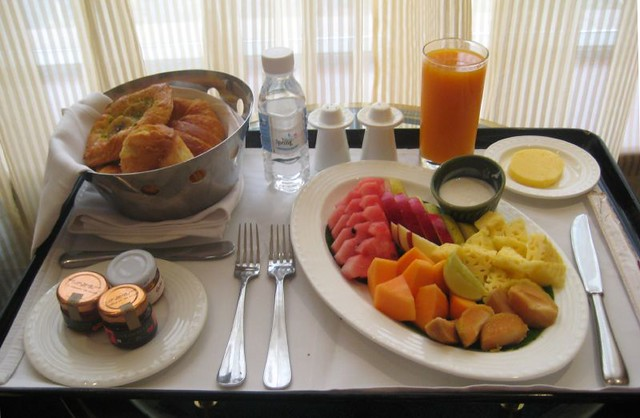 Waldorf Astoria Room Service Breakfast