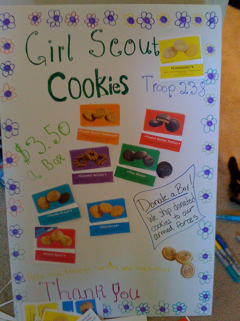 Poster For The Booth First Day Of The Girl Scout Cookie