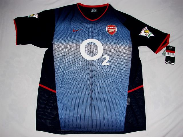3052f1c19 ... Arsenal FC 02 03 Away Code7 Bergkamp Jersey