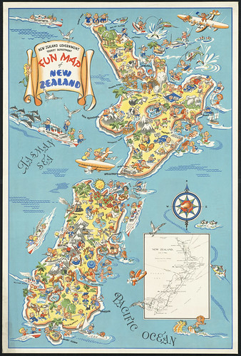 Fun map of New Zealand | by Boston Public Library