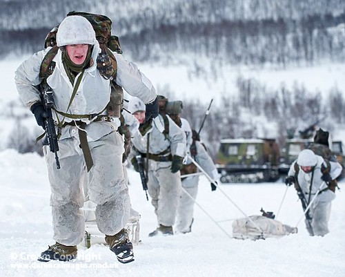 Royal Marines From 45 Cdo In Norway A Viking Armoured