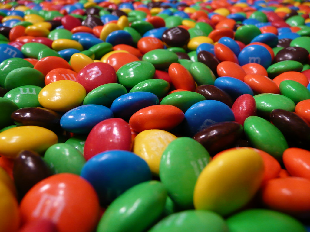 M M Candies Pictures: M&Ms As Far As The Eye Can See. How Often