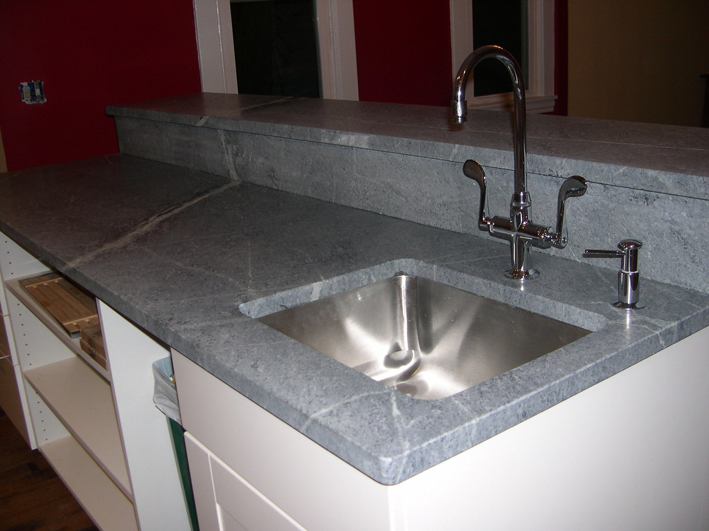Prep sink pre plugmold Kohler Essex faucet and Kohler soap ...