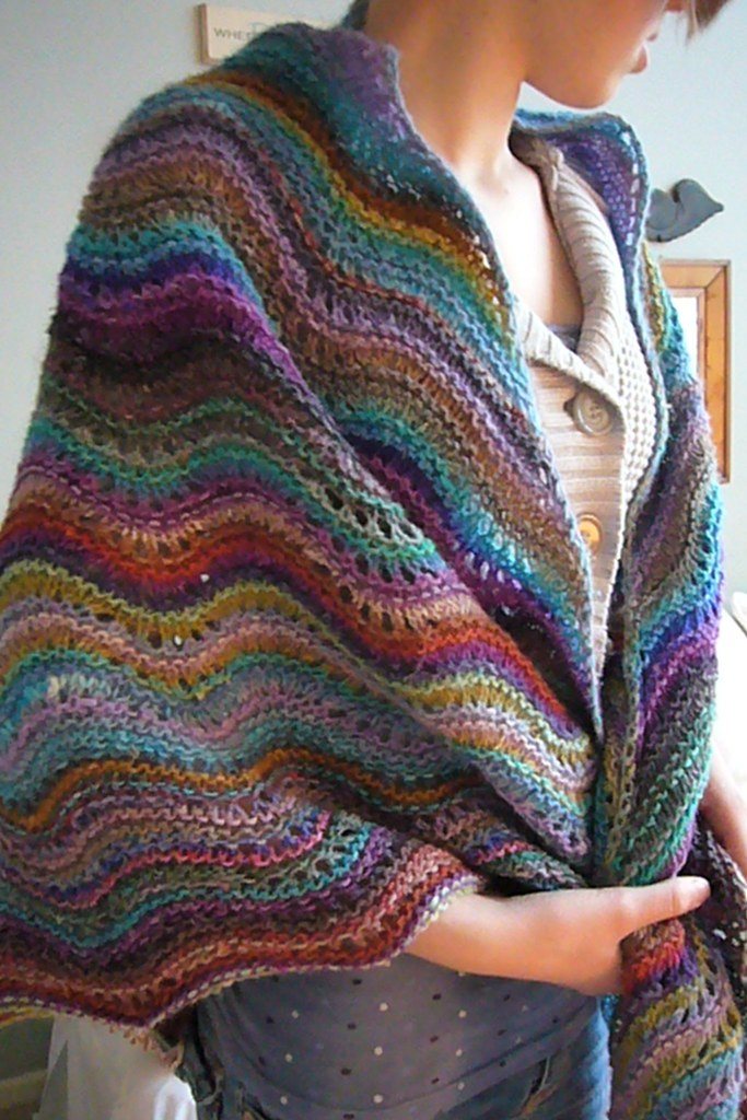 Noro Knitting Patterns : Noro shawl modeled Noro Silk Garden lite #2033, #2010, #20? Flickr