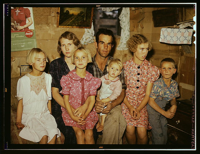 Jack Whinery And His Family, Homesteaders, Pie Town, New M -6845