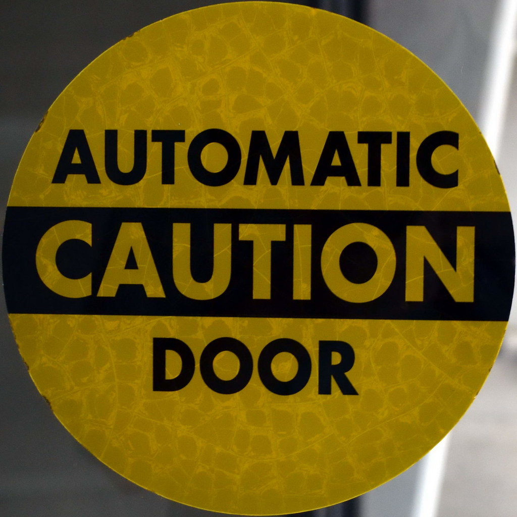 Automatic caution door tom magliery flickr