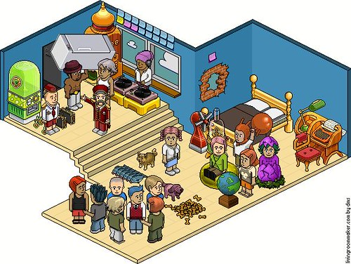Habbo Party Lol It S A Party At Habbo Hotel It S An