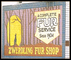 Zwerdling Fur Shop Sign embossed | by lorainedicerbo