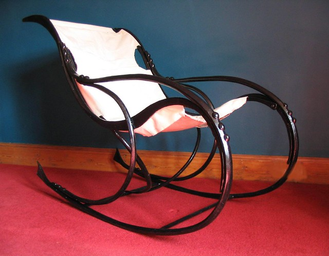 Blacksmith Made Iron Rocking Chair  Stunning isnt it. The ...