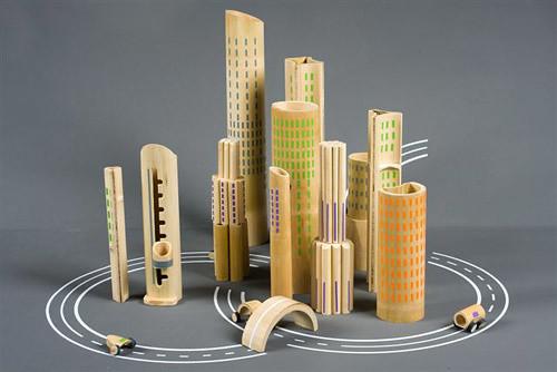 Metropolis Bamboo City Toy Set By Israeli Designer Michal