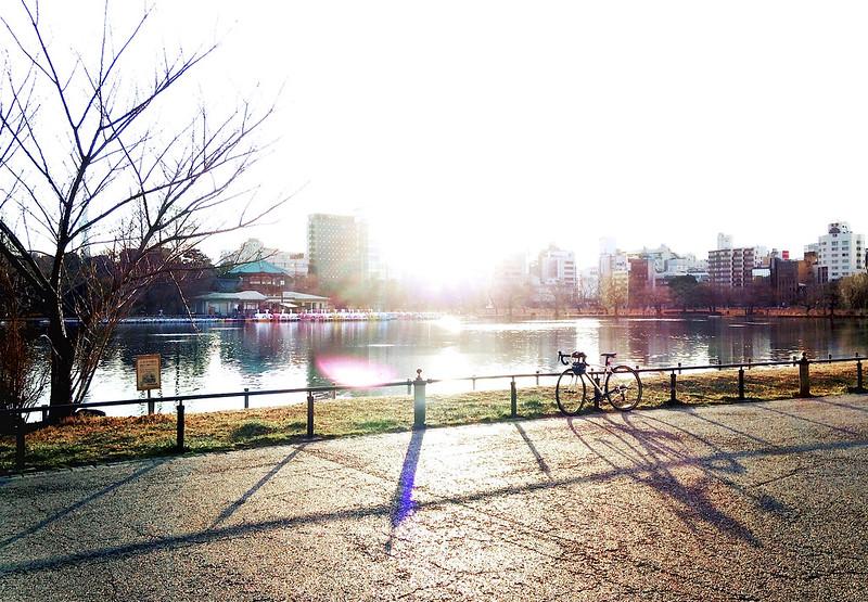 冬の 日の出。Allez E5と共に