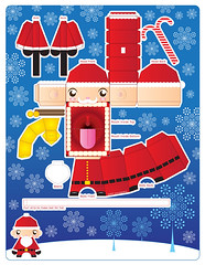 Santa Paper Toy Card | by macula1