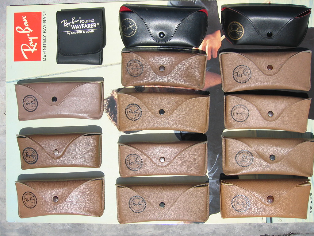 original ray ban case  ray ban sunglasses brown case