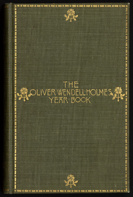 Book Cover White Zinfandel ~ The oliver wendell holmes year book front cover file