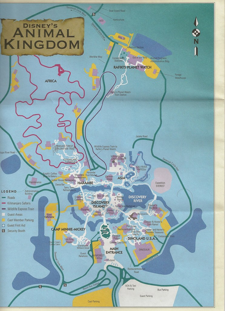 Disney\'s Animal Kingdom Map | John Corigliano | Flickr
