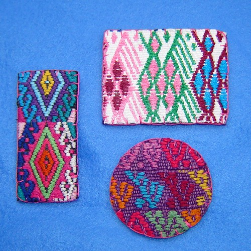Mayan Fabric Magnets | by lachapina