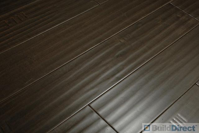 Hand Scraped Distressed Dark Hardwood Floors Flooring