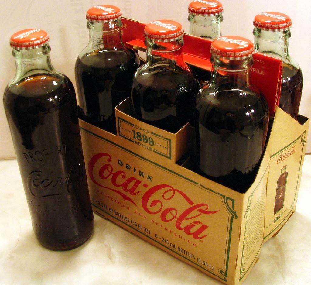 Drink Coca Cola In Bottles Sign