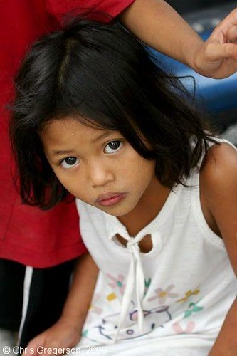 Young Filipino Girl In Angeles City Neighborhood  This -7988