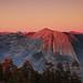Smoky Sunset on Half-Dome