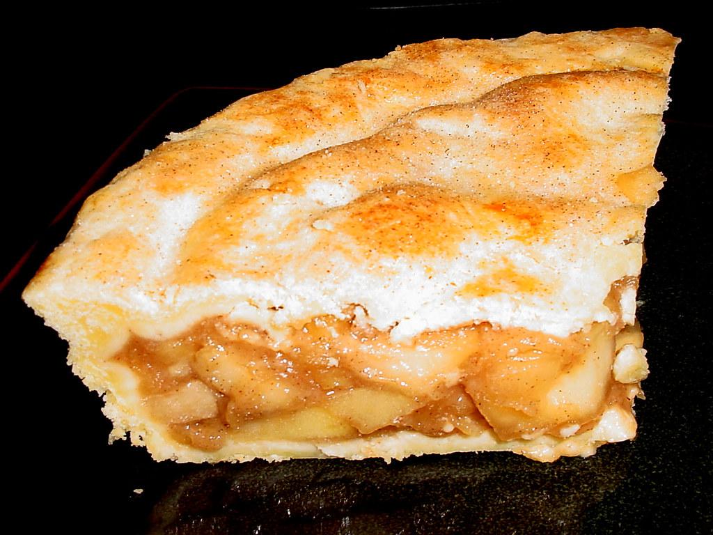 Cardamom Spiced Deep Dish Apple Pie - slice 2   America's ...