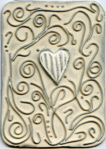 White Flourishes Heart ATC 1 | by CraftyGoat