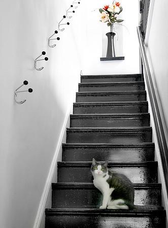 White Walls Black Stairs Mslk Via Swissmiss Anna