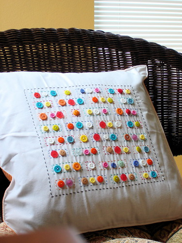 Craft buttons pillow | by mpaecua