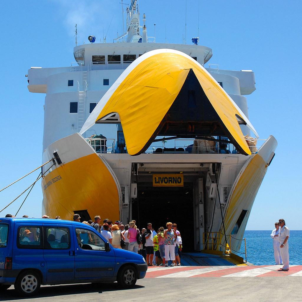 Corsica ferries bastia livorno view large on black - Bastia marseille bateau ...