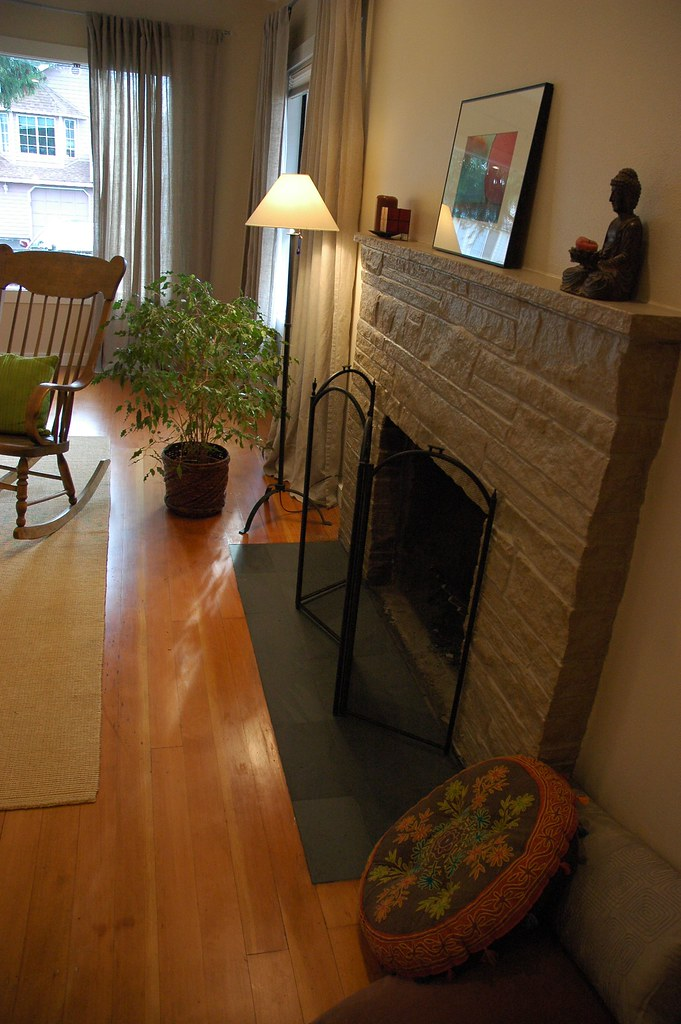 Complete Makeover Painted Fireplace Refinished Floor Z