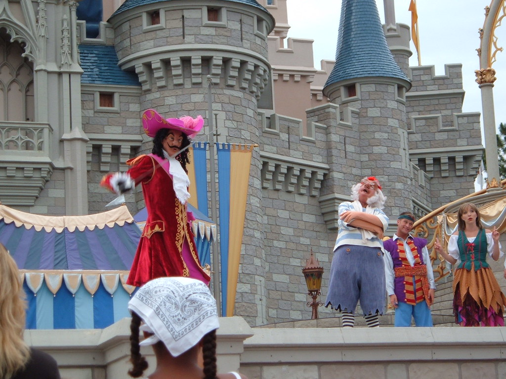 Captain Hook And Mr Smee In Cinderellabration Show Magic K
