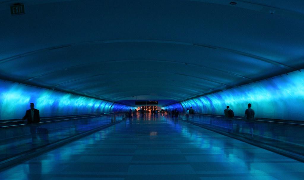 Blue Tunnel Detroit Airport Blue Tunnel Detroit