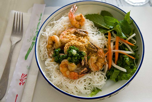 Vermicelli Grilled Shrimp Bun Tom Thit Nuong Rice