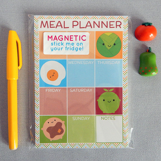 Magnetic Meal Planner Notepad