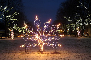 NYC - Bronx - Bronx Zoo - Astor Court - 2007 Holiday Lights - Peacock | by wallyg